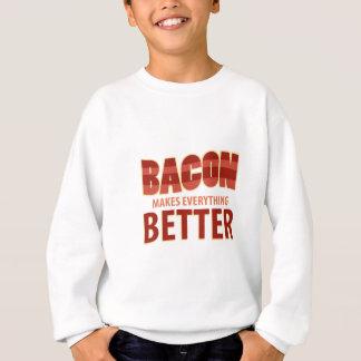 ベーコンはすべてをよりよくさせます スウェットシャツ