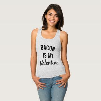 ベーコンは私のバレンタインです タンクトップ