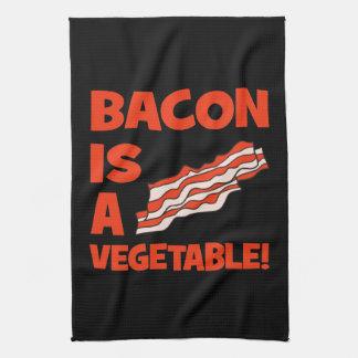 ベーコンは野菜です キッチンタオル