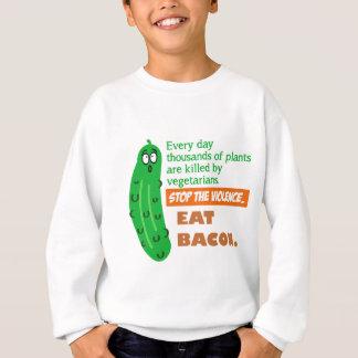 ベーコンを食べて下さい スウェットシャツ
