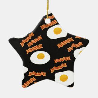 ベーコン及び卵 セラミックオーナメント
