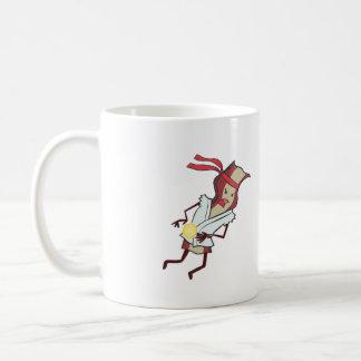ベーコン対ソーセージのマグ コーヒーマグカップ