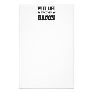ベーコン-おもしろいなことわざのために持ち上がります 便箋
