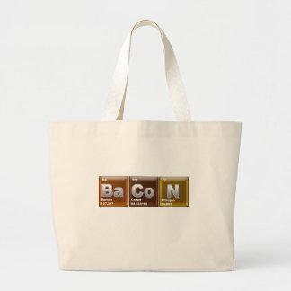 """""""ベーコン""""を綴る要素 ラージトートバッグ"""