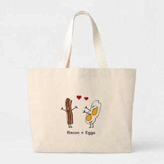 ベーコン + 卵 ラージトートバッグ