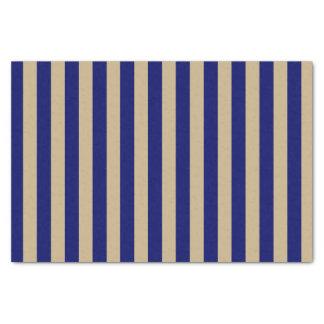 ベージュおよび濃紺縞で飾ります 薄葉紙