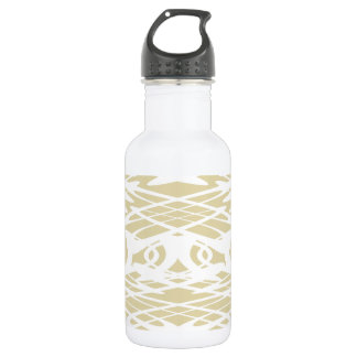 ベージュおよび白いのアールヌーボーのスタイルパターン ウォーターボトル