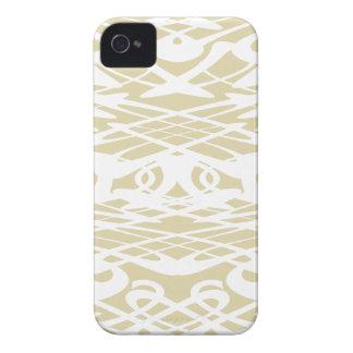 ベージュおよび白いのアールヌーボーのスタイルパターン Case-Mate iPhone 4 ケース