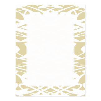 ベージュおよび白いのアールヌーボーパターン ポストカード