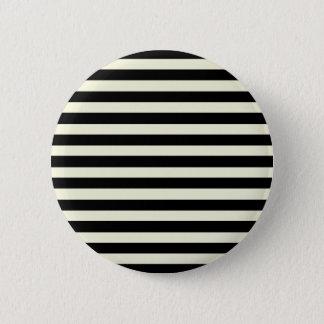 ベージュおよび黒くエレガントな横は縞で飾ります 5.7CM 丸型バッジ