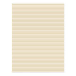 ベージュタン色のストライプパターン ポストカード