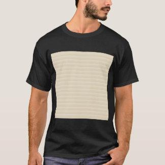 ベージュタン色のストライプパターン Tシャツ