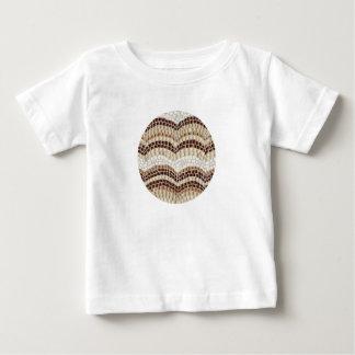 ベージュモザイクが付いているベビーのTシャツ ベビーTシャツ