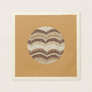 ベージュモザイクが付いているベージュ色のカクテルの紙ナプキン スタンダードカクテルナプキン