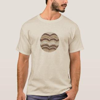 ベージュモザイクが付いている人の基本的なTシャツ Tシャツ