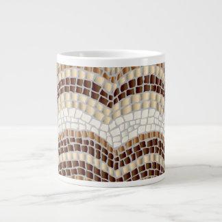 ベージュモザイクジャンボマグ ジャンボコーヒーマグカップ