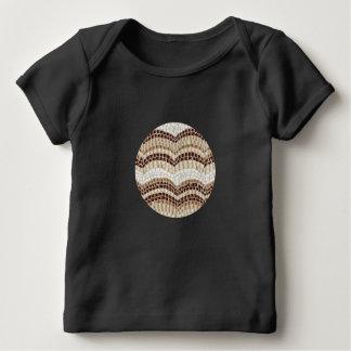 ベージュモザイクベビーのラップのTシャツ ベビーTシャツ