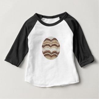 ベージュモザイクベビーのRaglanのTシャツ ベビーTシャツ