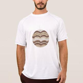 ベージュモザイク人の二重乾燥したTシャツ Tシャツ
