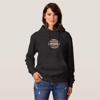 ベージュモザイク女性の基本的なフード付きのスエットシャツ パーカ