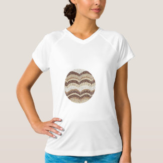 ベージュモザイク女性の性能のTシャツ Tシャツ