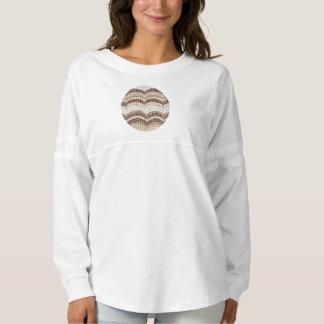 ベージュモザイク女性の精神のジャージーのワイシャツ スピリットジャージー