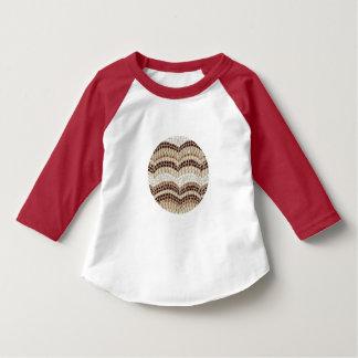 ベージュモザイク幼児のRaglanのTシャツ Tシャツ