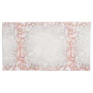 ベージュヴィンテージの煙のモモの英国のバラ 枕カバー