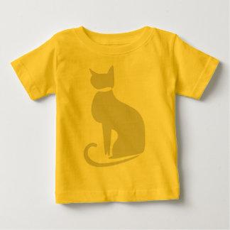ベージュ猫の乳児のTシャツ ベビーTシャツ