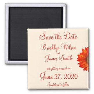 ベージュ秋の結婚式の保存日付の磁石 マグネット