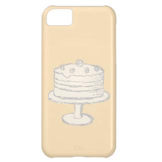 ベージュ背景のクリーム色色のケーキ iPhone5Cケース