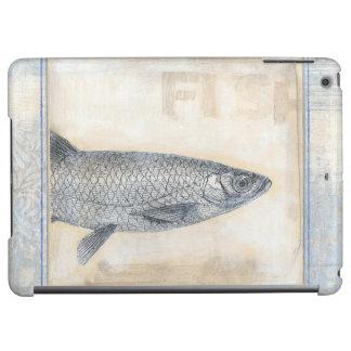ベージュ背景の灰色の魚