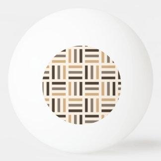ベージュ色および茶色のストライブ柄 卓球ボール
