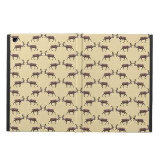 ベージュ色のシカの雄鹿パターン iPad AIRケース