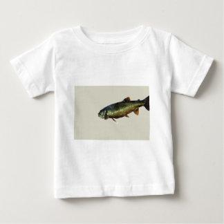ベージュ色のマス ベビーTシャツ