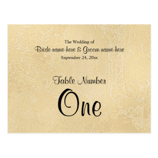 ベージュ色抽象芸術の結婚の黒くカスタムな文字 ポストカード