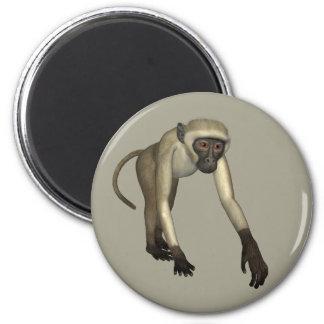 ベージュ色猿 マグネット