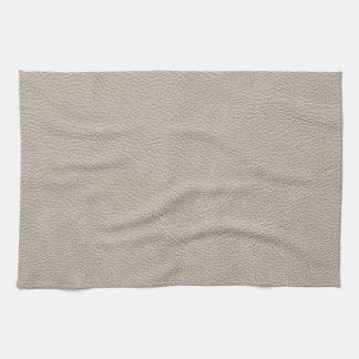 ベージュ革プリントの質パターン キッチンタオル