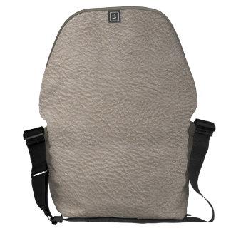 ベージュ革プリントの質パターン メッセンジャーバッグ