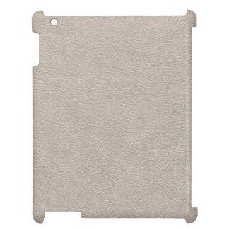 ベージュ革プリントの質パターン iPad CASE