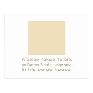 ベージュToksie Turbie ポストカード