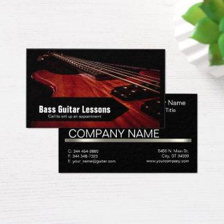 ベースギターのレッスンおよび音楽教師 名刺