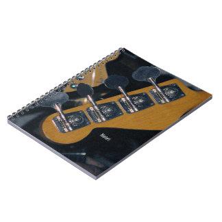 ベースギターの調整止め釘 ノートブック