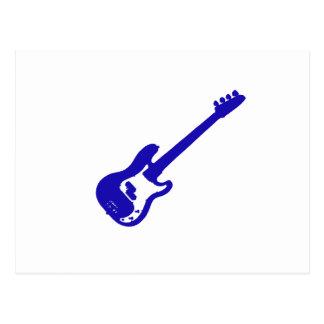 ベースギター傾けられた青いgraphic.png ポストカード