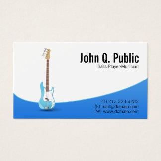 ベース奏者のギタリストのミュージシャン 名刺