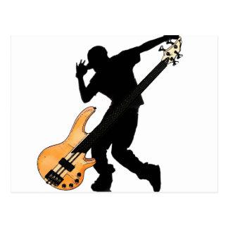 ベース奏者のスワッグ ポストカード
