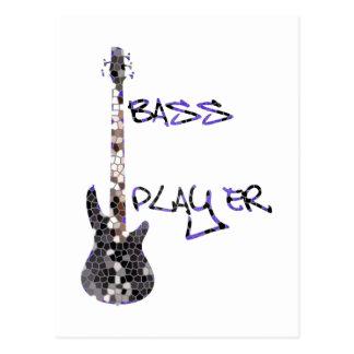 ベース奏者の元のデザイン! ポストカード