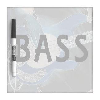 ベース奏者の逆の文字4のひも低音手 ホワイトボード