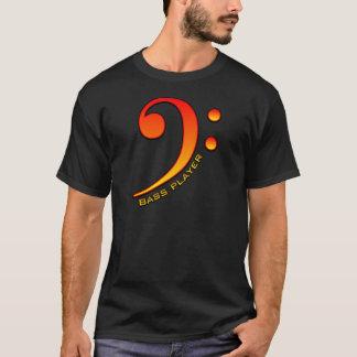 ベース奏者(クレフ、音符記号) Tシャツ