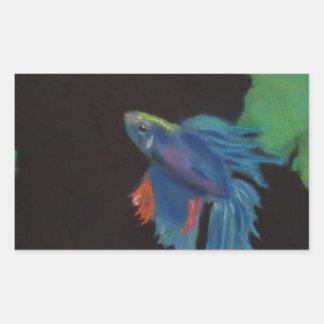 ベータ魚 長方形シール